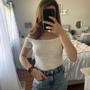 NWT Lace Off the Shoulder Top